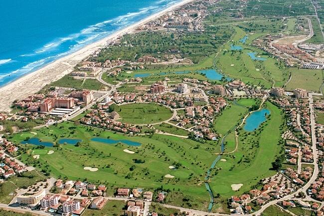 Vista aérea de Oliva Nova