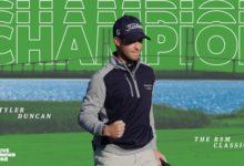 Duncan se estrena en el PGA tras quitarle de las manos el triunfo a Simpson en el RSM Classic