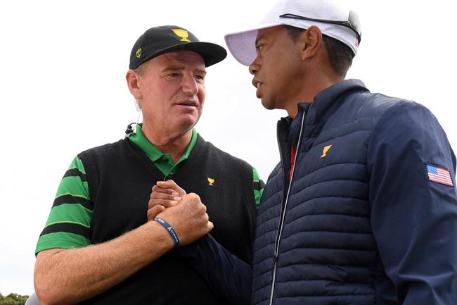 Ernie Els, Tiger Woods, PGA Tour, Presidents Cup, Royal Melbourne,