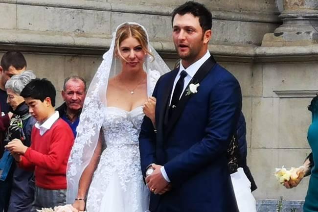 Jon Rahm y Kelley Cahill boda