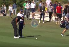 Tiger Woods le enseño la matrícula a Justin Thomas con un misil de 332 metros, 258 fueron de vuelo