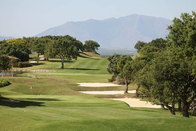Vista del New Course de San Roque, diseño del gran Seve Ballesteros y Perry Dye