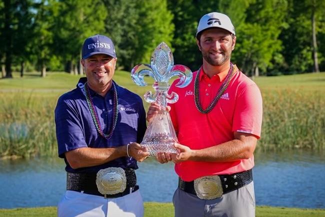 02 19 04 29 Jon Rahm, junto a Ryan Palmer, campeon en el Zurich Classic del PGA Tour