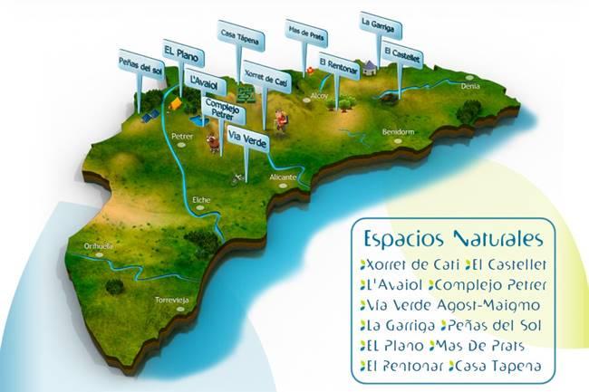 Alicante Natura Mapa