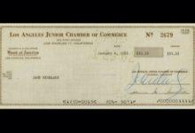 Este fue el primer cheque ganado por Nicklaus en 1962. Una cantidad que ascendía a 33,33 dólares