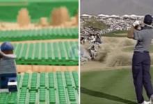 ¿Recrear el espectacular Hoyo en Uno de Tiger con figuras Lego en el Phoenix Open del 96? ¡Hecho!