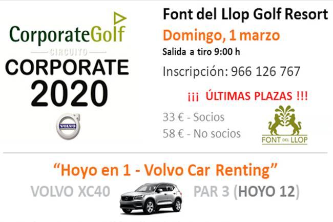 El espectacular Circuito Corporate hace parada en Font del Llop Golf, será el próximo 1 de marzo