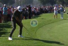 El Golf es duro… Hasta los más grandes, como Dustin Johnson, cometen el fatídico salto de rana