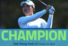 Hee Young Park se lleva el Vic Open 2020 tras un emocionante PlayOff a tres con sabor surcoreano