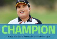 Azahara termina en el Top 25 en el Women's Australian en la 20ª victoria de Inbee Park en la gira