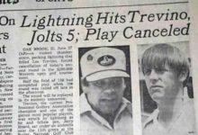 ¿Sabía qué… Lee Trevino salió prácticamente ileso de un campo de golf tras caerle un rayo en 1975?