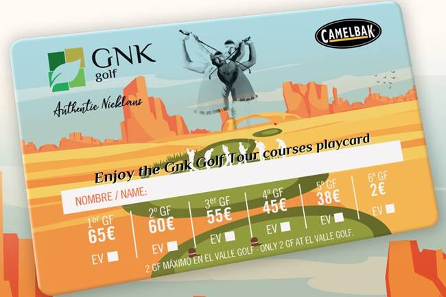 Juega en los 4 campos GNK diseñados por Nicklaus con la Tarjeta PlayCard con grandes descuentos