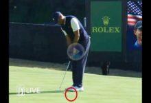 El Golf es duro… Tiger necesitó de ¡4 putts! desde unos 5 mts., y uno de ellos parecía que estaba dado