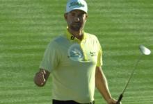 Este putt de Simpson en el primer hoyo del PlayOff le permitió apuntarse su 6º triunfo en el PGA