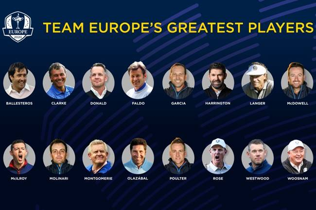 16 jugadores Ryder Cup