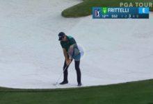 El Golf es duro… Una cruel corbata evitó que este golpazo desde el bunker se convirtiera en eagle