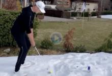 Matthias Schwab muestra al mundo cómo utilizar la nieve para hacer un bunker casero para practicar