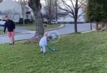 Quédense con la boca abierta después de ver el swing de este niño de apenas dos años de edad