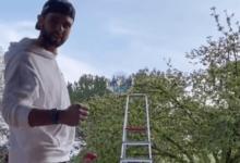 Arnaus se suma al ladder challenge, el reto de derribar latas situadas en peldaños de una escalera