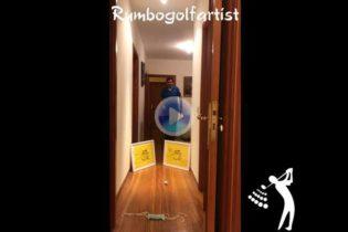 Álvaro Rumbo honra al Masters en su 'Moving Day' desde el pasillo de casa con este fantástico golpe