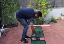 Consejos de GOLF desde casa: J. V. Pérez nos explica como mejorar el putt con solo 2 libros y 2 vasos
