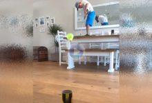 Leo «The Kid Golfer» lo volvió a hacer. El niño de 7 años mostró su magia con una pluma de bádminton