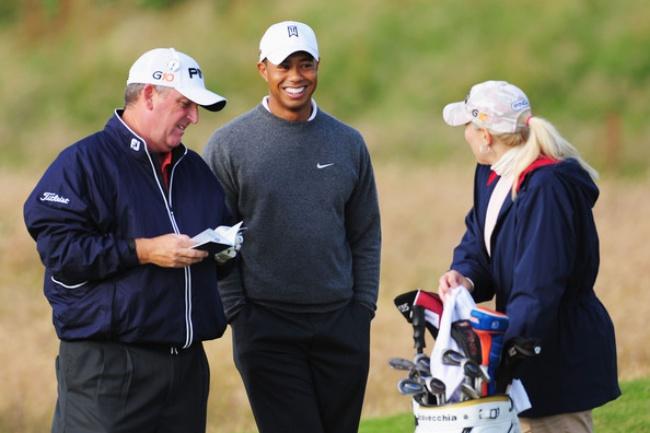 Mark Calcavecchia, Tiger Woods, Brenda Calcavecchia,