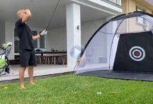 Mick Fanning: campeón en Surf, novato en Golf. El aussie pide perdón a sus vecinos por este mal golpe