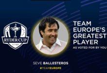 Seve es elegido por aclamación popular el mejor jugador de la historia del Team Europe de la Ryder