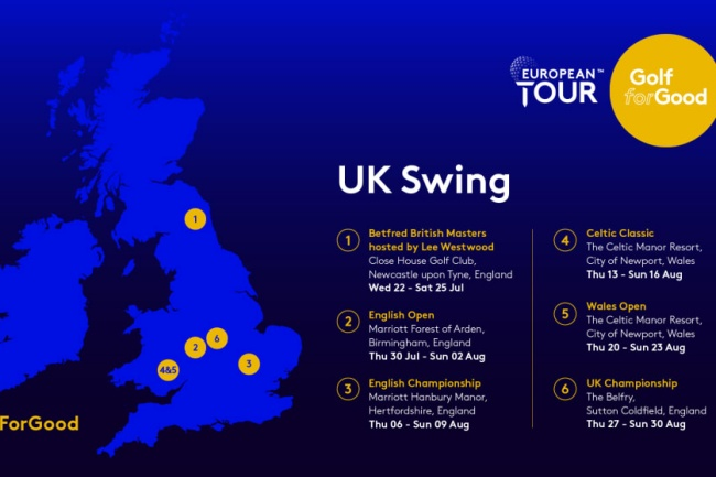 European Tour, UK Swing,
