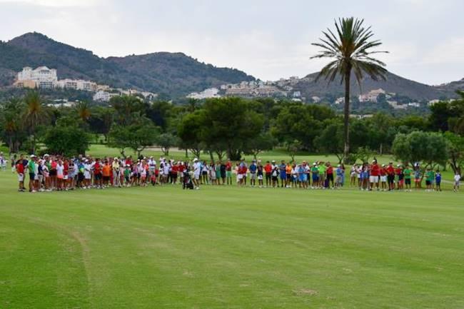 Jugadores en campo de golf BOE