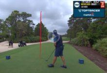 Mickelson cazó el green con este bombazo de 300 mts. y Brady remató el hoyo con un purazo ¡¡eagle!!