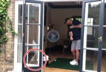 Cuando Thomas Bjorn intenta dar un consejo de Golf y se carga un cristal de casa en el intento