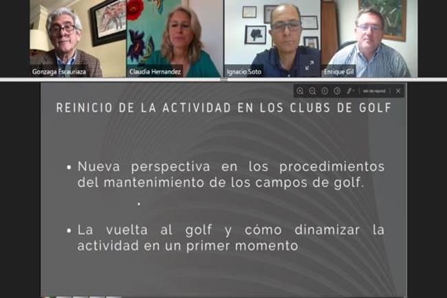 Webinar Debate Reapertura de campos de golf