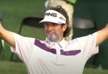 En ocasiones el Golf no es tan duro. Vea los golpes con más suerte en el PGA tras rebotar en las rocas