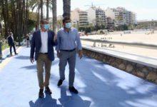"""Carlos Mazón en Benidorm: """"Se ha hecho un buen trabajo. Las playas son seguras, azules y accesibles"""""""