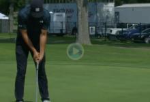 El Golf es muy duro… Spieth se bajó del liderato después de tripatear desde un metro de distancia