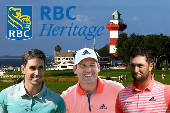 Rafa Cabrera, Sergio Garcia y Jon Rahm en el RBC Heritage en Harbor Town