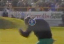 La victoria de Seve en Irlanda sobre Langer fue una explosión de júbilo, solo hay que ver la celebración