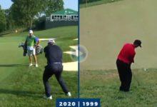 Más de dos décadas después (21 años), Jon Rahm calca un golpe de Tiger Woods en Muirfield Village