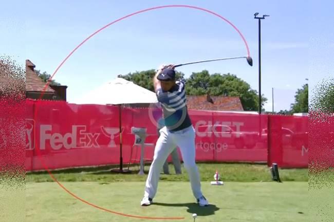 Vea a cámara súper lenta el poderosísimo swing de Bryson DeChambeau, 6 veces campeón en el PGA