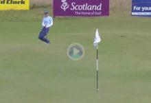 Azahara Muñoz mostró en Escocia la magia que posee en sus manos con este genial chip rodadito