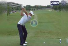 Vea la evolución del swing de Dustin Johnson, y su complexión física, desde 2008 hasta nuestros días