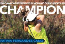 Fátima Fernández estrena su palmarés profesional con la victoria en el IOA Championship del Symetra