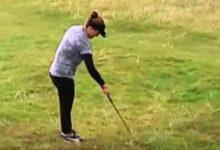 Lexi Thompson se libró de ser penalizada en el Women's British Open ¿Infringió, o no, la regla 8.1?