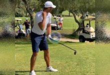 Así es el swing de Rafa Nadal con todos sus 'tics'. El balear es prácticamente jugador scratch, Hcp. 0,1
