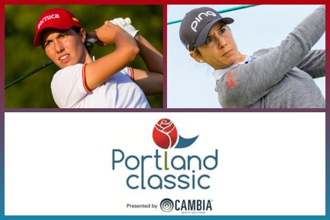Carlota Ciganda y Azahara Muñoz en el Portland Classic 633x324