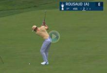 El arranque soñado. Golpazo de Eduard Rousaud en el 1 del US Open para anotar eagle desde 130 mts.
