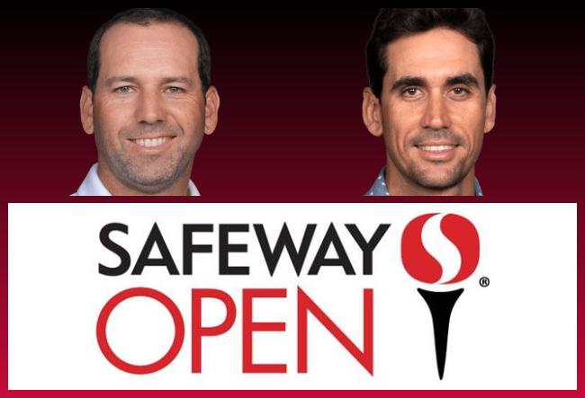 Sergio Garcia y Rafa Cabrera en el Safeway Open 2020
