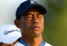 Winged Foot no perdona: Tiger se apuntó un +10 en 36 hoyos y se marchó a casa con esta cara